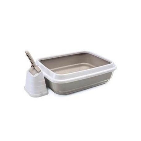 WC kočka s vysok.okrajem a lopatkou béžová 50x40x16cm