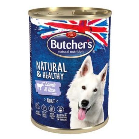Butcher's Dog Natural&Healthy jehněčí s rýží pate 390g