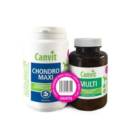 Canvit Chondro Maxi 230g+Canvit Multi pro psy 100g