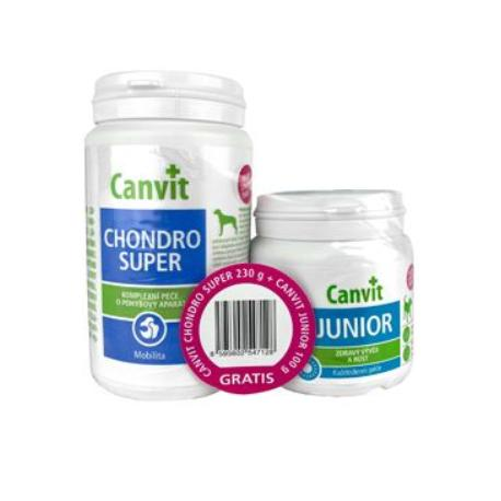 Canvit Chondro Super 230g+Canvit Junior pro psy 100g