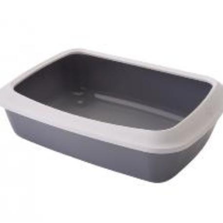 Savic Isis Small šedá toaleta pro kočky s okrajem 42x31x12cm