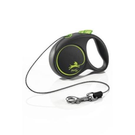 Vodítko FLEXI Black Design XS lanko 3m/8kg zelená NEW