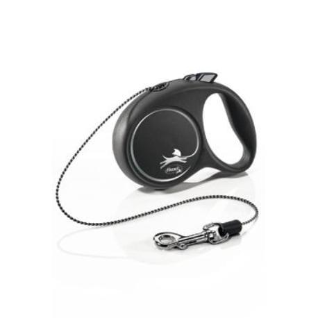 Vodítko FLEXI Black Design XS lanko 3m/8kg stříbrná NEW