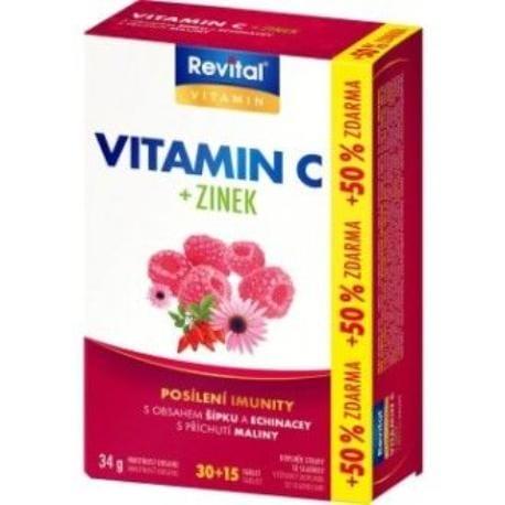 Vitar Revital Vitamin C zinek, echinacea a šípek 34g