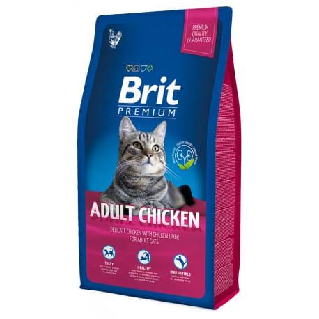 Brit cat adult Premium kuře 8 kg