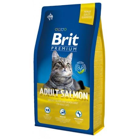 Brit Premium Cat Adult Salmon 2 x 8kg NEW