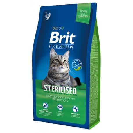 Brit Premium Cat Sterilised 2 x 8kg NEW