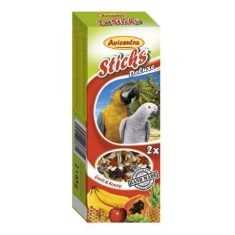 Avicentra tyčinky velký papoušek - ovoce+med 2ks