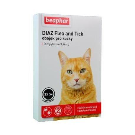 Beaphar Obojek antipar.kočka DIAZ Flea&Tick 35cm 1ks