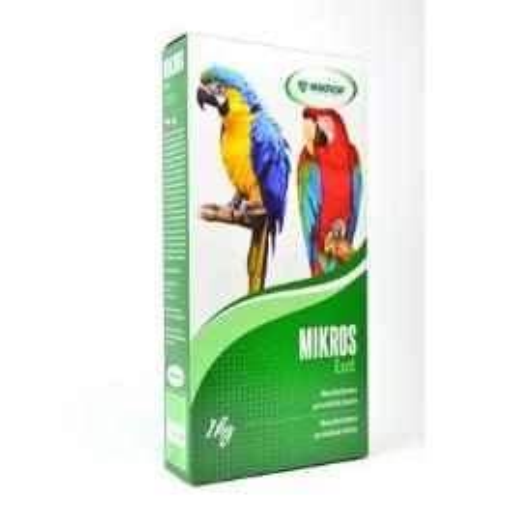 Mikros VGE pro papoušky plv 1kg
