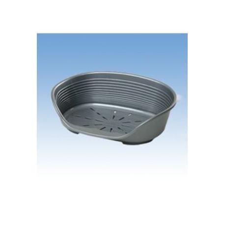 Pelech plast SIESTA DLX 2 stříbrný 49x36x17,5cm FP 1ks