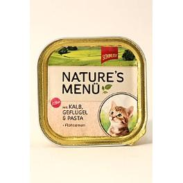 Schmusy Cat Nature Menu vanič Junior telec+drůbež 100g