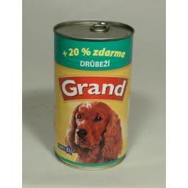 GRAND konz. pes drůbeží 1150g
