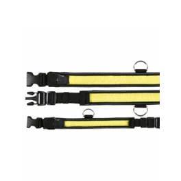Obojek blikací nylon žluto/černý 40-55/35mm TR 1ks