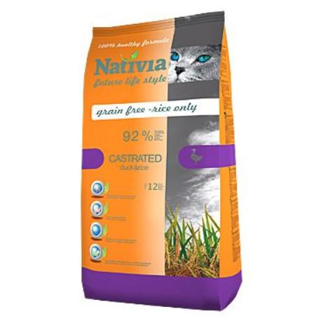 Nativia Cat Castrated 10kg + Sleva 5% od 2ks