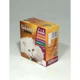 Gourmet Gold konz. kočka Multi k.mas Exotic 7x85g+1ksR