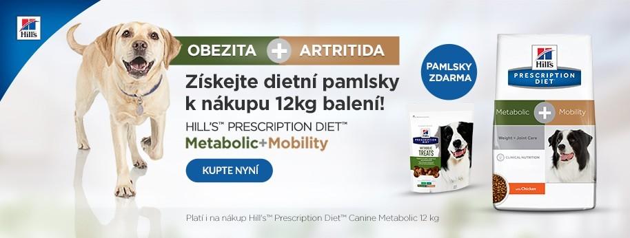 Hills Metabolic+Mobility 12 kg + dietni pamlsky