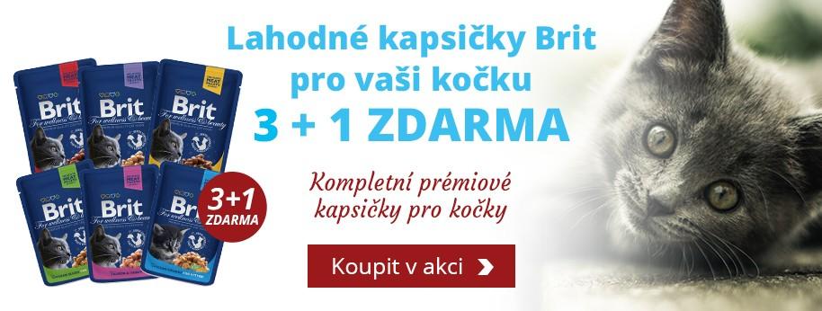 Akce Brit Premium Cat kapsičky 3 + 1 ZDARMA
