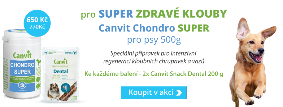 Canvit Chondro Super 500g + DÁREK 2ks Dental Snacks