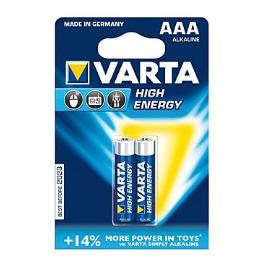 VARTA Baterie High Energy AAA 2ks