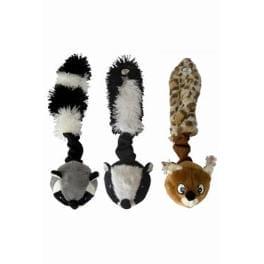 Hračka pes Míč s ocáskem pískací 26cm Skinneeez