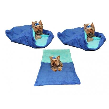 Spací pytel 3v1 pes,kočka č.38 modrá/tyrkys.
