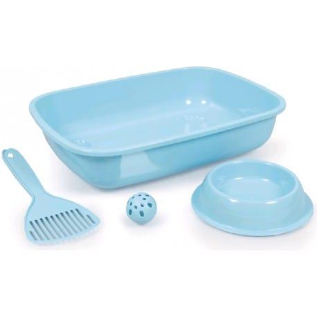 WC Welcome kitten set modrý