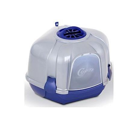 WC Mega Corner 52 x 59,5 x 44,5 cm bílo-modrá