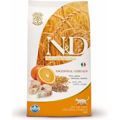 N&D Low Grain CAT Adult Codfish & Orange 10kg