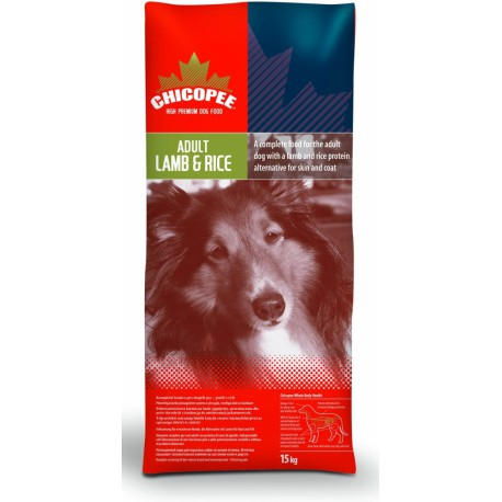 Chicopee pes Dry Adult Lamb a Rice 15kg
