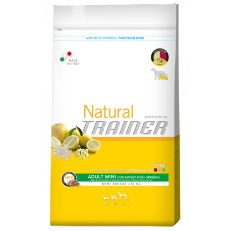 Trainer Natural Adult Mini Beef Rice Ginsen.7,5kg
