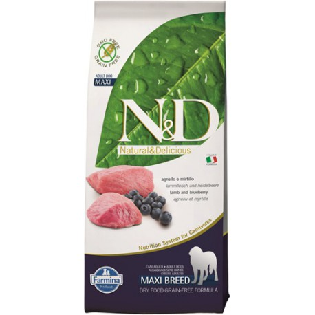 N&D Grain Free DOG Adult Maxi Lamb & Blueberry 12kg