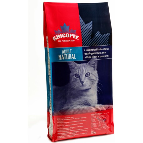 Chicopee kočka Dry Adult Natural 15kg