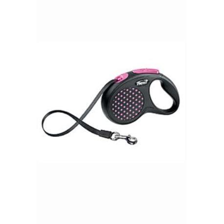 Vodítko FLEXI Design S pásek 5m růžová