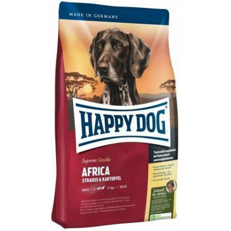 Happy Dog Supreme Sensible AFRICA pštros,bramb. 12,5kg