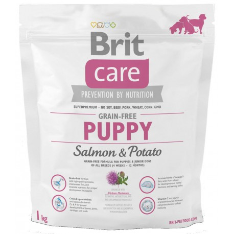 Brit Care Dog Grain-free Puppy Salmon & Potato 1kg