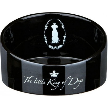 Miska keramická pes King of Dogs zkosená 0,35l 14cm TR