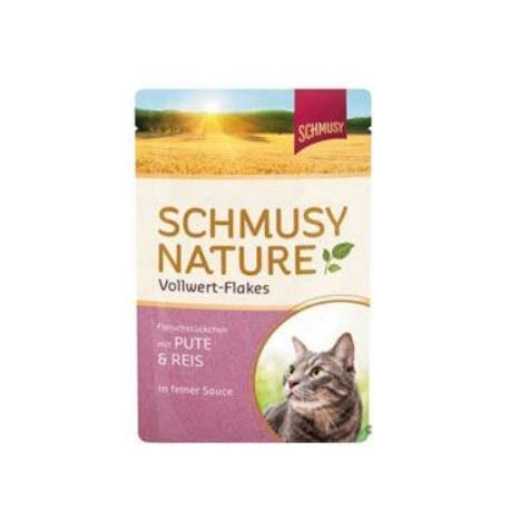 Schmusy Cat Nature Flakes kapsa krůta+rýže+šťáva 100g