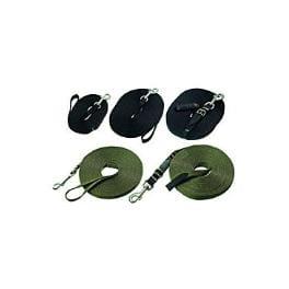 Vodítko nylon stopovací Ploché 10m/20mm Černá KAR 1ks