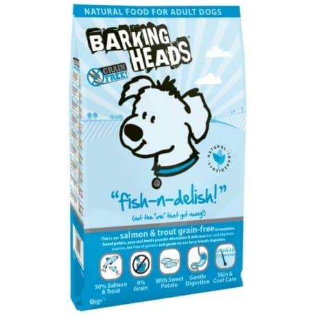 BARKING HEADS Fish-n-Delish GRAIN FREE 6kg