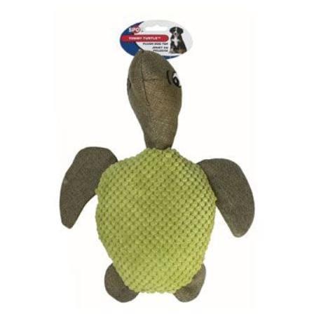 Hračka pes Želva TOMMY pískací plyšová 30cm