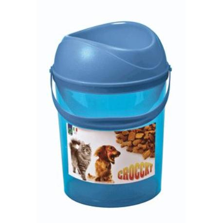 Box na krmivo s miskou Modrý ARGI