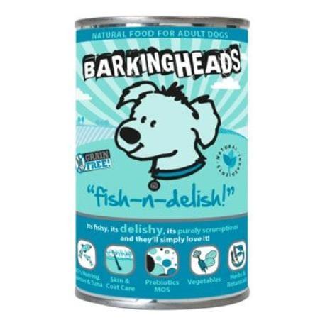 BARKING HEADS Fish n Delish konz. 400g new