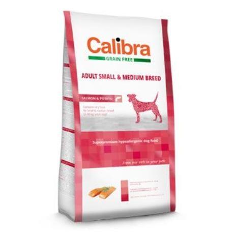 Calibra Dog GF Adult Medium & Small Salmon 12kg NEW