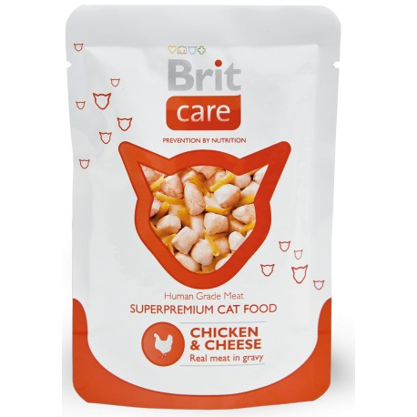 Brit Care Cat kapsa Chicken & Cheese Pouch 80g