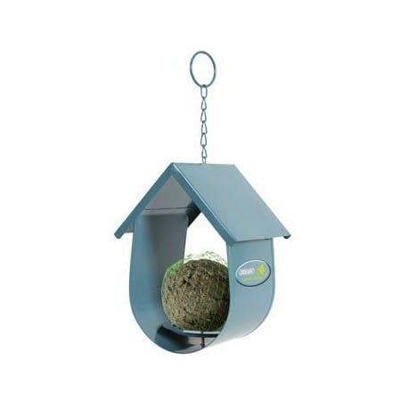 Budka na lojovou kouli pro ptáky kovová modrá Zolux