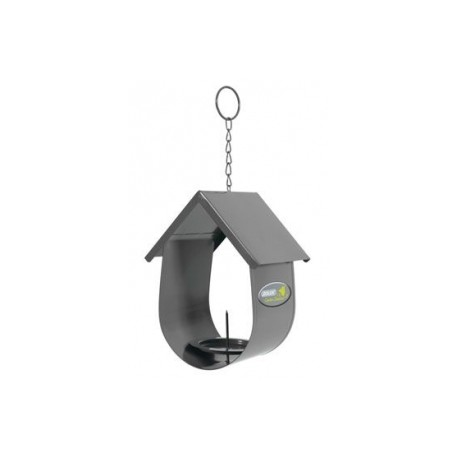 Budka na lojovou kouli pro ptáky kovová šedá Zolux