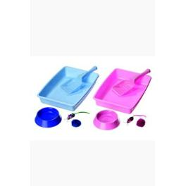 Starter set Kitty Cat Toilet modrá KAR 1ks