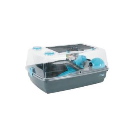 Klec křeček INDOOR 55cm Vision 360 modrá/šedá Zolux
