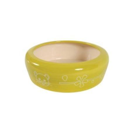 Miska keramická pes 700ml žlutá Zolux